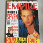 Empire Magazine February 1996 issue 80 Brad Pitt in Seven